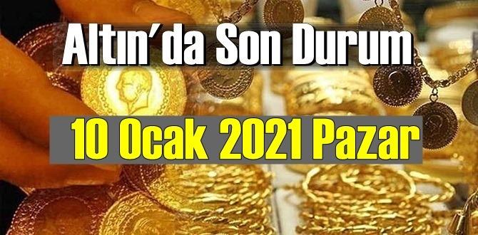10 Ocak 2021 Pazar Ekonomi'de Altın piyasası, Altın güne nasıl başlıyor