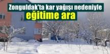 Kent Beyaza büründü! Zonguldak'ta yoğun kar yağışı nedeniyle eğitime mola!