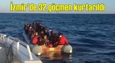 Yunan unsurları bunu hep yapıyor! Dikili açıklarında lastik bot içerisinde 32 göçmen kurtarıldı!