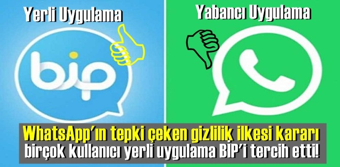 WhatsApp'ın tepki çeken gizlilik ilkesi kararı sonrası birçok kullanıcı yerli uygulama BİP'i tercih etti!