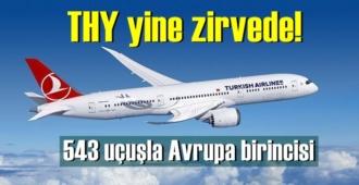 THY, 543 uçuşla Avrupa birincisi oldu!