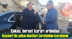 Çakıcı, beraat kararı ardından Kayseri'de yakın dostları tarafından karşılandı