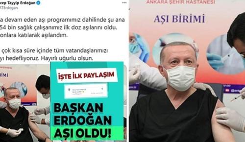 Son Dakika! Başkan Erdoğan CoronaVac aşısını yaptırdı!
