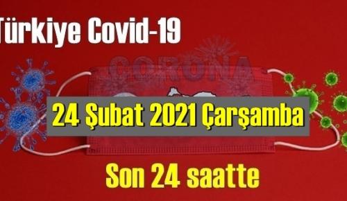 24 Şubat 2021 Çarşamba Koronavirüs verileri açıklandı, bugün 72 Can kaybı yaşandı!