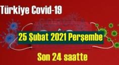 25 Şubat 2021 Perşembe Koronavirüs verileri açıklandı, bugün 73 Can kaybı yaşandı!