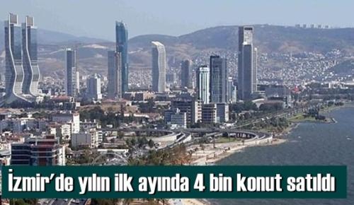 Ocak 2021 döneminde Türkiye genelinde olduğu gibi İzmir'de de konut satışları düştü.