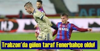 Süper Lig'in 27. haftasında Trabzon'da Skor 1-0, gülen Takım Fenerbahçe oldu!