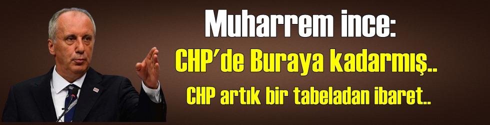 Beklenen gün geldi ve Muharrem İnce partisi CHP'den istifa etti!