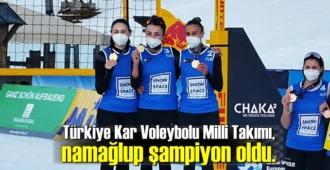 Kar Voleybolu Milli Takımımız, namağlup olarak şampiyona adını yazdırdı