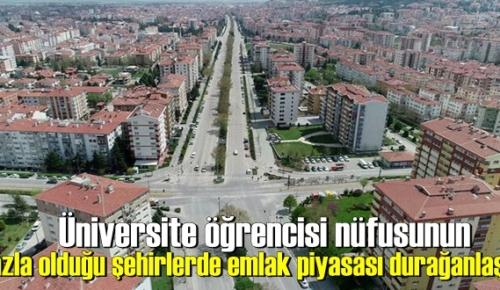 Üniversite öğrencisi nüfusunun fazla olduğu şehirlerde emlak piyasası durağanlaştı