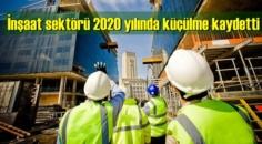 İnşaat sektörü 2020 yılında küçülme kaydetti