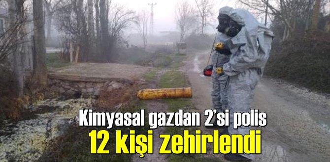 Hurdacıda, Kimyasal gazdan zehirlendiler 112 Acil ekipleri müdahale etti