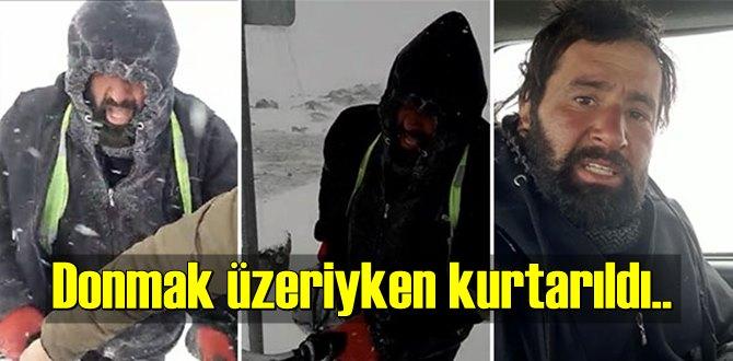 Kars Digor'da, Bisikletle Tura çıkan Ömer Töremen donmak üzereyken kurtarıldı