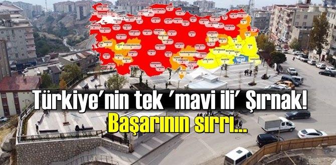 Türkiye'nin risk haritasının 'mavi' rengine sahip tek ili!