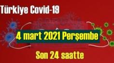 4 mart 2021 Koronavirüs verileri açıklandı, bugün 68 Can kaybı yaşandı!