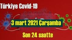 3 mart 2021 Koronavirüs verileri açıklandı, bugün 65 Can kaybı yaşandı!