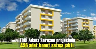 TOKİ Adana Sarıçam projesinde 436 adet konut satışa çıktı