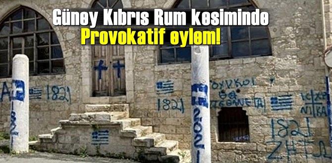 Güney Kıbrıs Rum kesiminde Provokatif eylem!