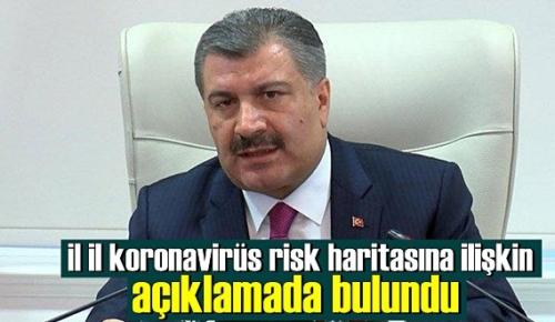 Bakan Koca, il il koronavirüs risk haritasına ilişkin açıklamada bulundu