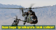 Düşen Cougar tipi helikopterin Kabiliyet ve Teknik özellikleri