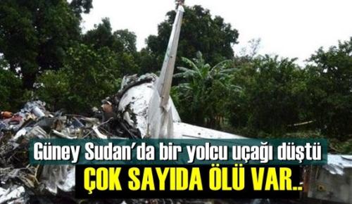Sudan'da yolcu uçağı düştü Çok sayıda Ölü var..