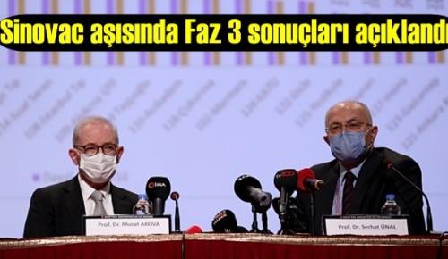 Sinovac aşısında Faz 3 sonuçları açıklandı!