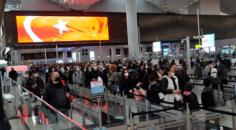 İstanbul Havalimanı'nda şaşırtan görüntü