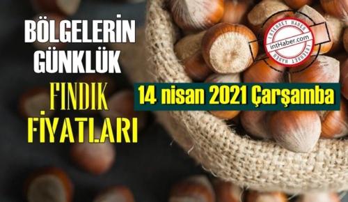 14 nisan 2021 Çarşamba Türkiye günlük Fındık fiyatları, Fındık bugüne nasıl başladı