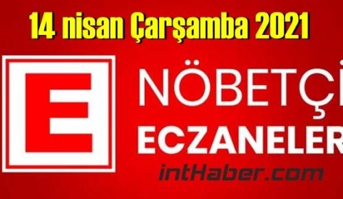 14 nisan Çarşamba 2021 Nöbetçi Eczane nerede, size en yakın Eczaneler listesi
