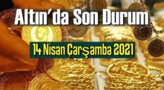 14 Nisan Çarşamba 2021 Bankalar ve serbest piyasa'da Tam,Gram ve Çeyrek Altın fiyatları