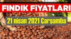 21 nisan 2021 Çarşamba Türkiye günlük Fındık fiyatları, Fındık bugüne nasıl başladı