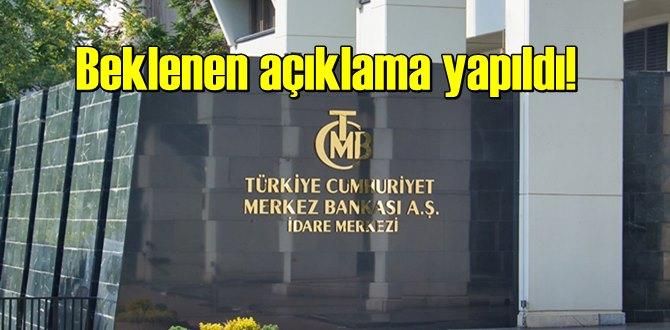 Beklenen açıklama yapıldı! Merkez Bankası, politika faizini Stabil bıraktı