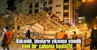 Bakanlık, Binaların yıkımına yönelik yeni bir çalışma başlattı!