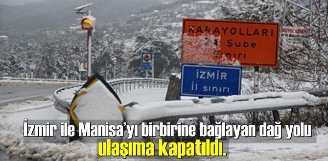 İzmir'de 580 rakımlı Sabuncubeli geçidi beyaza büründü ve Kar Engeli yaşandı!
