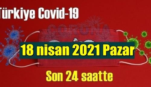 18 nisan 2021 Pazar virüs verileri yayınlandı, tablo Ciddi 318 Can kaybı yaşandı!