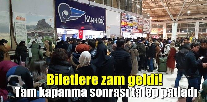 Türkiye Tam kapanmaya geçmeden Otogarlar doldu taştı! Otobüs Biletleri Zamlı SATILDI!