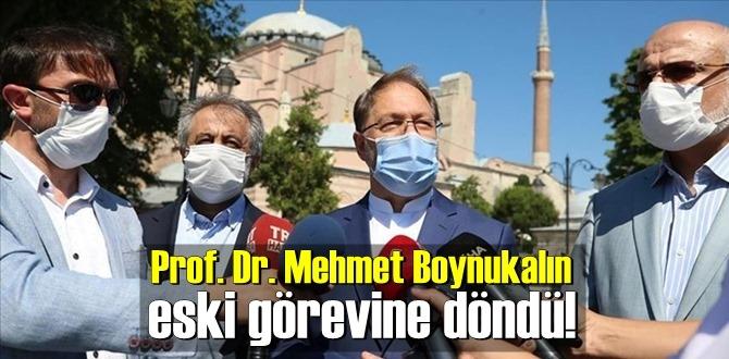 Prof. Dr. Mehmet Boynukalın eski görevine döndü!