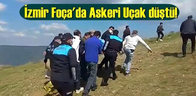 İzmir Foça'da Askeri Uçak düştü! sevindici haber Ölüm yok!