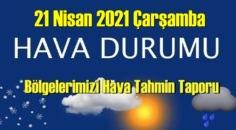 21 Nisan 2021 Çarşamba Hava durumu açıklandı, Bölgelerimizin Son durumu!