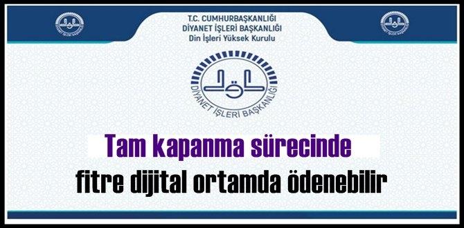 Bakanlık'tan Fitre açıklaması: Bu dönemde fitre dijital ortamda ödenebilir!