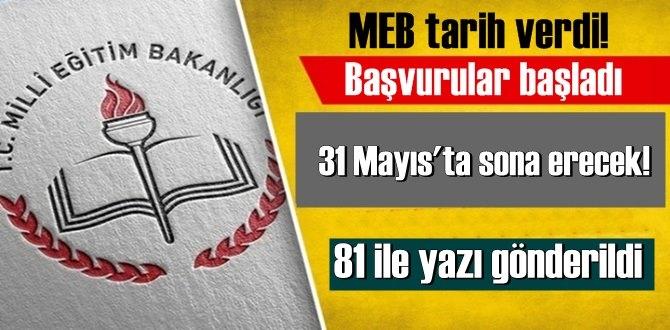 MEB tarih verdi! Başvurular başladı ve 31 Mayıs'ta sona erecek!