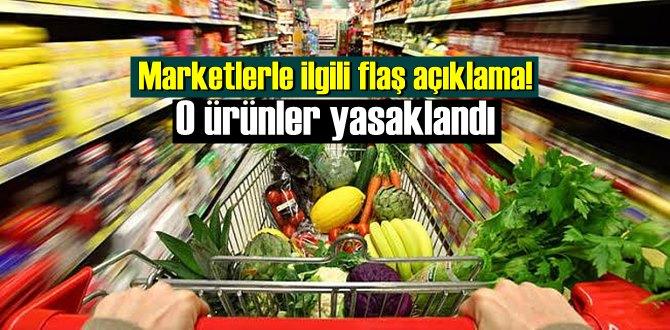 Market tedbirleri genelgesi! Artık Marketler O ürünleri Satamayacak!