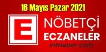 16 Mayıs Pazar 2021 Nöbetçi Eczane nerede, size en yakın Eczaneler listesi