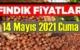 14 Mayıs 2021 Cuma Türkiye günlük Fındık fiyatları, Fındık bugüne nasıl başladı