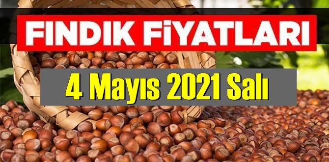 4 Mayıs 2021 Salı Türkiye günlük Fındık fiyatları