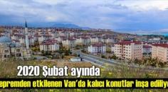 2020 Şubat ayında depremden etkilenen Van'da kalıcı konutlar inşa ediliyor