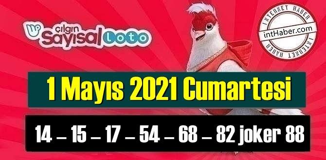 Sayısal Loto çekiliş sonuçları 1 Mayıs 2021 Cumartesi belli oldu! 14 – 15 – 17 – 54 – 68 – 82 joker 88 oldu