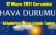 12 Mayıs 2021 Çarşamba Hava durumu açıklandı, Bölgelerimizin Son durumu!